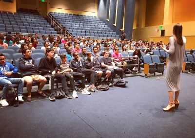 LAW speaking to students at West Broward High School, FL