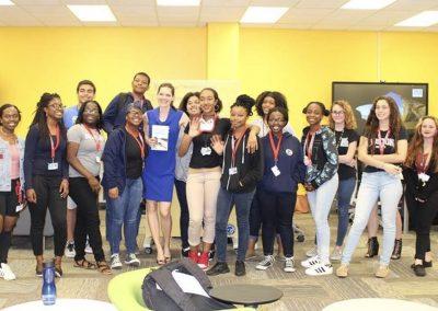Laurie A. Watkins, keynote speaker at Sheridan Technical High School, Hollywood, FL