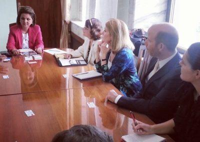 Laurie A. Watkins meeting with Kyrgistan's ruling party's Deputy Leader (SDPK) at Parliament, Bishkek, Kyrgystan